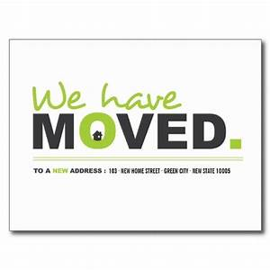 we have moved green moving announcement postcard by With business moving postcards