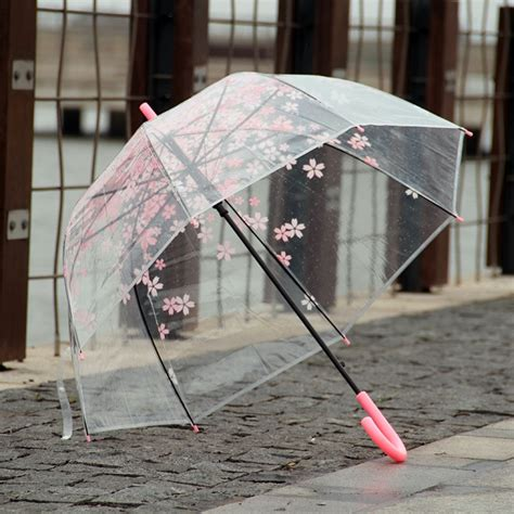 japanese cherry flower plastic umbrella thickening