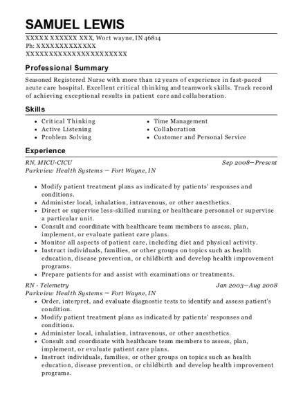 detar navarro hospital rn telemetry resume sample resumehelp