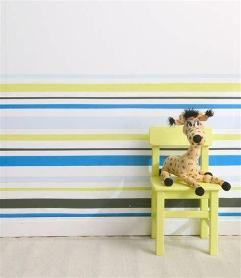 Wandgestaltung Für Kinderzimmer Streichen by Wand Streichen Muster Selber Machen Streifen Kinderzimmer