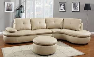 Hilaria leather sectional sofa groupon goods for Sectional sofa groupon