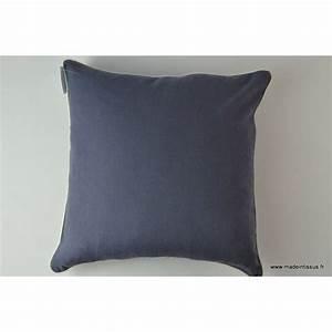 Housse De Coussin Bleu : housse pour coussin 40x40 polyester lin coloris bleu ~ Dailycaller-alerts.com Idées de Décoration