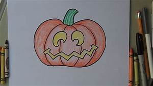 How To Draw A Halloween Jack O Lantern Pumpkin Easy