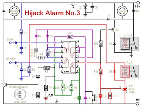 How Build Vehicle Anti Hijack Alarm Circuit Diagram
