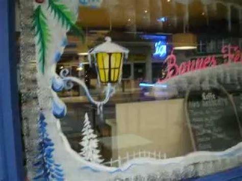 decoration de vitrine de noel nouvel an paysages de neiges peinture