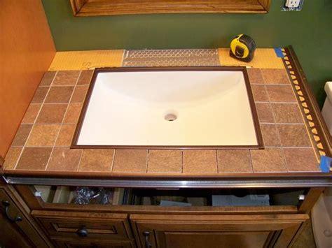 Tile Bathroom Sink Countertop by Undermount Sink With Tile Countertop Bstcountertops