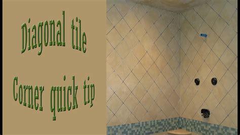 quick tip diagonal corners walls tile