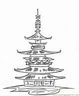 Japanese Shrine Temple Coloring Buddhist Pagoda Kleurplaat Dragon Double Japan Tattoo Kleurplaten Tattoodonkey Female Tattoos Buddhists Culture sketch template