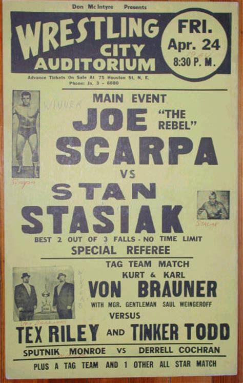 vintage wrestling posters  early  echomon