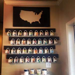 Coffee, Mug, Display, 1x4, U0026, 39, S, Black, Paint, C, Shaped, Screw, Hooks, I, Had, Lowe, U0026, 39, S, Cut, The, Wood, The, Size, I
