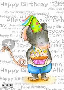 Happy Birthday Maus : maus alles gute zum geburtstag happy birthday joyeux anniversaire graphic illustration ~ Buech-reservation.com Haus und Dekorationen