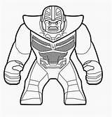 Thanos Coloring Lego sketch template