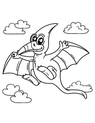 Cute Pteranodon coloring page Free Printable Coloring Pages