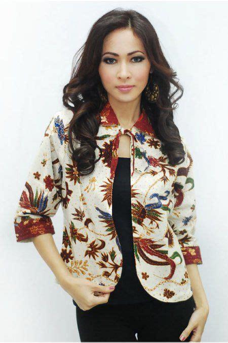 model baju batik blazer wanita terbaru model pakaian