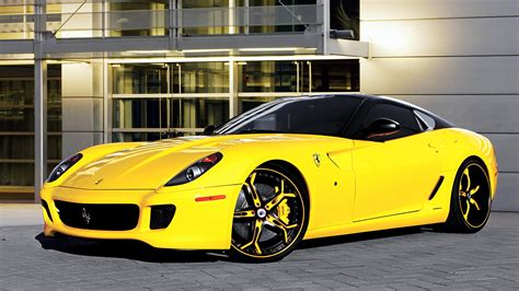 Wallpaper Ferrari 599 Luxury Yellow Cars 1920x1080