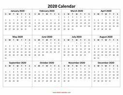 Ms Office Calendar Template 2020 Yearly Calendar 2020 Free Download And Print
