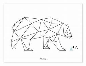 Küchenboden Schwarz Weiß : lilipinso kinder poster 39 origami b r 39 schwarz wei 30x40cm bei fantasyroom online kaufen ~ Sanjose-hotels-ca.com Haus und Dekorationen
