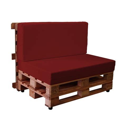 Sofas con palets con fundas de loneta KALLE Cojines para