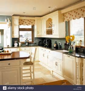kitchen central island central island unit breakfast bar in modern country style kitchen stock photo royalty free