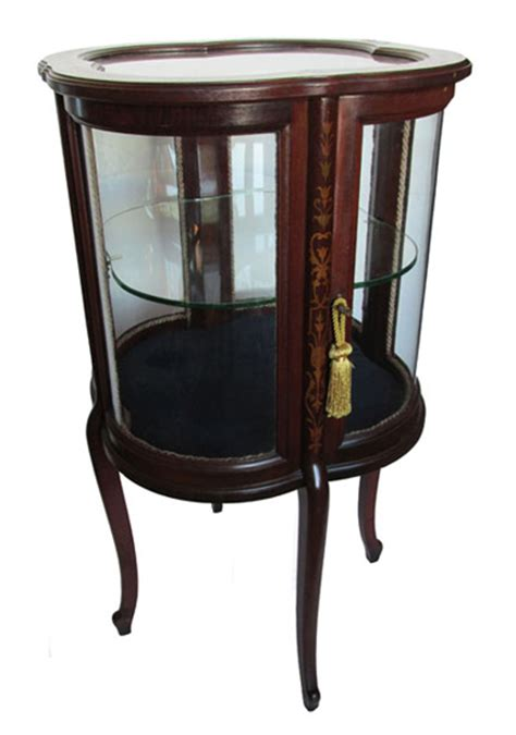 small table top curio cabinet antique furniture wooden nickel antiques
