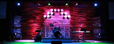 dots  wood church stage design ideas