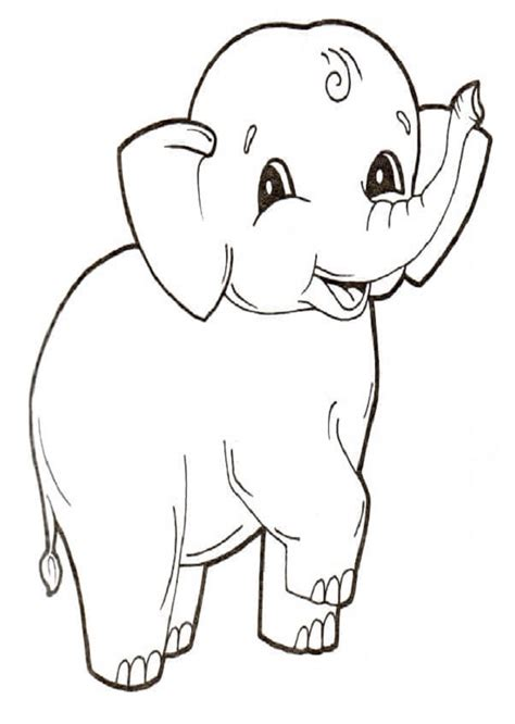 elefantes  colorear dibujos  colorear