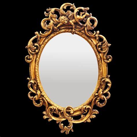 Bathroom Mirror Oval Wall Mirror Baroque De Luxe Gold