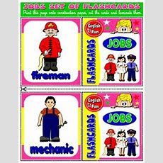 Jobs And Occupations Flashcards (18 Flashcards)  Step By Step  Vocabulary Fun Games