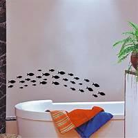 trending fish wall decals Popular Fish vinyl wall decal decor Bathroom wall art sticker Ocean Fish Scene | eBay