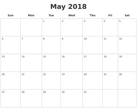 sheets calendar template 2018 may 2018 blank calendar pages