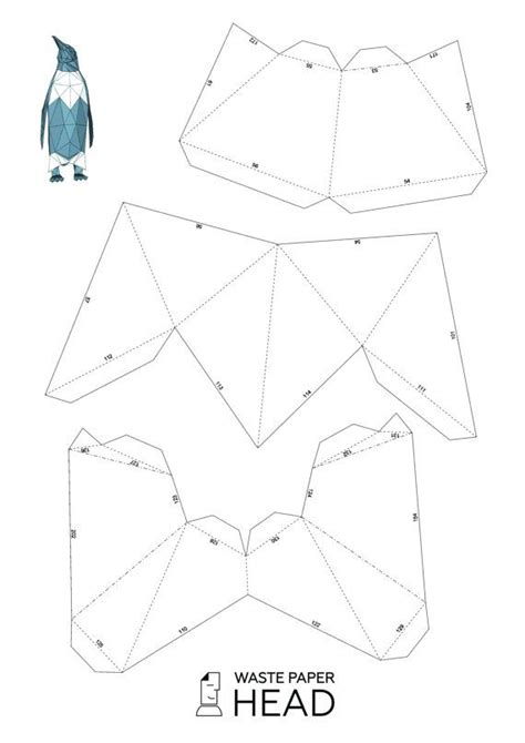 papercraft penguin printable diy template paper crafts