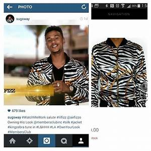 Members Club Jacket on Lil Fizz star of Love & Hip Hop ...
