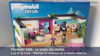 3 agrandissement de la maison moderne playmobil 5574 avec le studio des invit 233 s playmobil