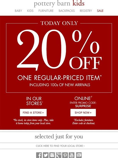 Pottery Barn Gift Card Discount by Pottery Barn Today Only 20 1 Item Milled