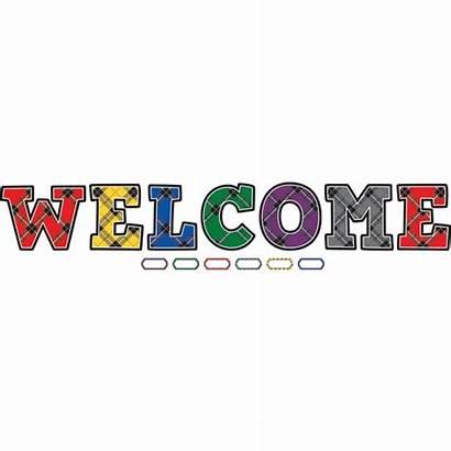 Welcome Bulletin Board Display Plaid Boards Bake