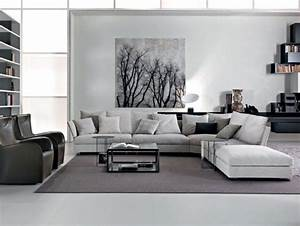Furniture living room glamorous small living room style for Grey and white living room furniture
