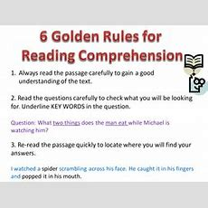 6 Golden Rules Of Comprehension By Blc2012  Teaching Resources