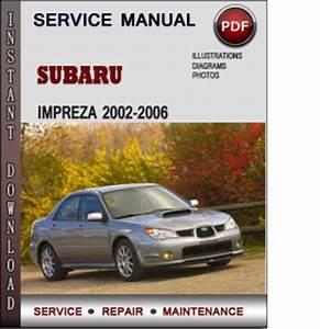 Subaru Impreza 2002-2006 Factory Service Repair Manual Download Pdf