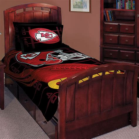 kansas city chiefs nfl twin comforter set