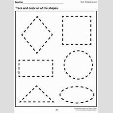 Math Worksheet  1000 Images About Preschool Shapes On Pinterest Shape Shape  Pre K Tracing