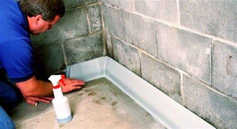 How To Waterproof Interior Basement Walls - basement wall waterproofing tips interior designs photo