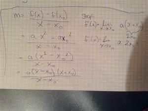 Erste Ableitung Berechnen : erste ableitung von f x a x 2 berechnen formel f r f 39 x beweisen mathelounge ~ Themetempest.com Abrechnung