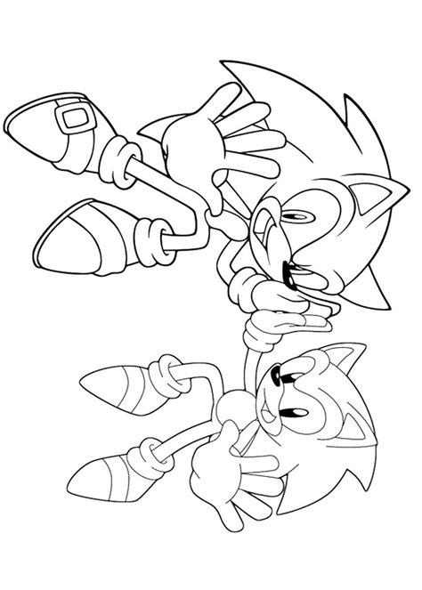 Free printable super sonic coloring pages. Sonic the Hedgehog Coloring Pages