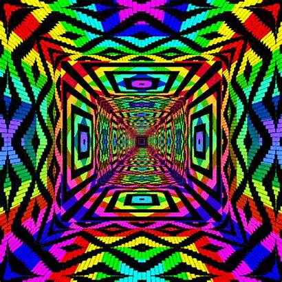 Rainbow Pattern Tunnel Patterns Gifs Psychedelic Trippy