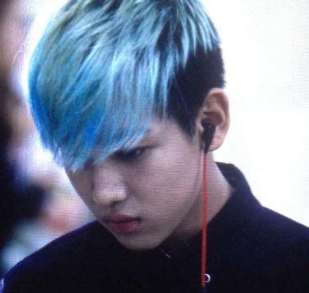 rocks blue hair kpop boy bands edition updated
