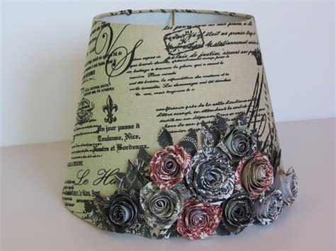 french country l shades french country l shade with handmade paper rose bouquet