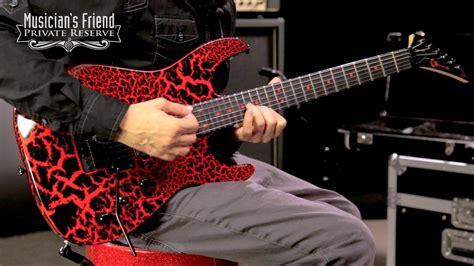 charvel custom select dinky electric guitar black red