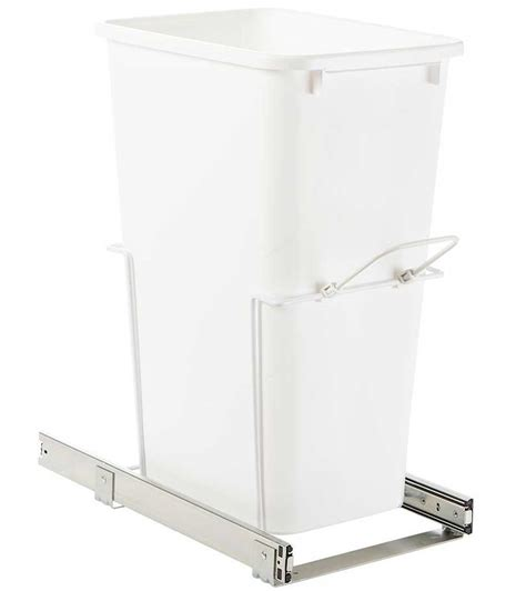 cabinet trash can slider sliding cabinet trash can quart in cabinet trash cans