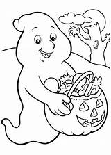 Coloring Ghost Pages Halloween Candy Popular sketch template