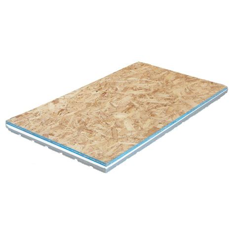 home depot flooring plywood amdry 2 09 in x 2 ft x 4 ft osb insulated r7 subfloor panel amd0150g the home depot